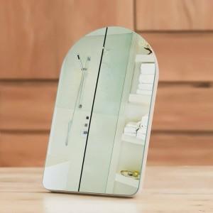 Specchio cosmetico semplice in legno specchio per dormitorio portatile desktop da casa o specchio cosmetico principessa da parete per ragazza mx01111351