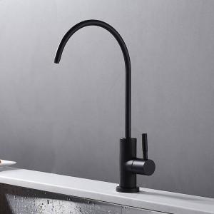 Rubinetto a freddo singolo Rubinetto da cucina girevole 360 nero Rubinetto girevole Rubinetto per lavabo in ottone