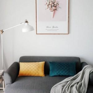 Fodera per cuscino in velluto delicato sulla pelle Waffle Lattice Cuscini decorativi Custodia Cover per auto Almofadas Cojines Divano Modello Camera Essenziale