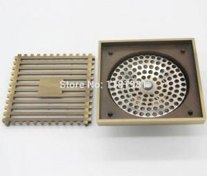 Quadrato 10 * 10 cm Nuovo color rame antico Scarico a pavimento Accessori per il bagno 316
