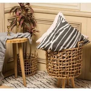 Cestello portaoggetti paglia rattan fatto a mano alghe Cesto di fiori in stile nordico vaso moderno home deco