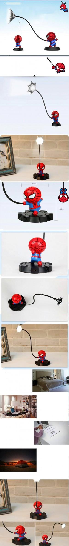 Super Spiderman Avengers Union 3 Led Night Light Resina Craft Kids Home Desktop Lampada da tavolo Figurine Compleanno Regali di nozze di Natale