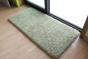 Tappeto da pavimento verde tenero per camera da letto Tappeto da bagno solido Tappetino antiscivolo per WC Zerbino assorbente d'acqua Super morbido alfombra