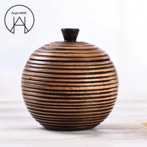 Scatola di immagazzinaggio delle latte di caramella di struttura scolpita mano del carrello del tè delle latte di immagazzinaggio dell'alimento creativo tailandese della decorazione di legno