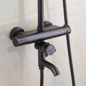 Miscelatore termostatico per doccia termostatico nero termostatico Rubinetto per doccia caldo e freddo Miscelatore per doccia termostatico per vasca XT407