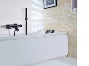 Rubinetto termostatico Set doccia rubinetto Rubinetto termostatico bagno Miscelatore nero con doccia palmare a parete XT405