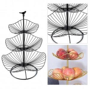 Tre strati di ferro arte frutta cesto portaoggetti organizzatore per la casa ciotola per spuntini di verdure Candy cucina tavolo da pranzo strumento di decorazione