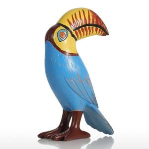 Arte moderna astratta esagerata della figurina della scultura della vetroresina dell'ornamento della resina dell'uccello del Tucano della grande bocca