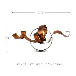 Accessori moderni della decorazione della casa del ferro della scultura del metallo della scultura astratta moderna della scultura del metallo della statua del cerchio e del cerchio