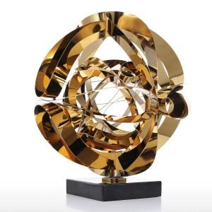 Sogno fiore scultura moderna in metallo figurina astratta regalo artigianale in acciaio inox per accessori decorazione della casa ufficio