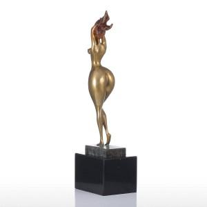 Feng Shui Figurine Sexy Plump Lady Handmade Bronzo Figurine Modern Art Home Decor Craft Regalo per l'home office