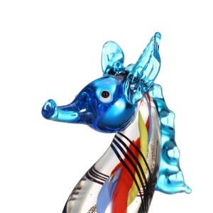 Miniature di figurine Cavalluccio marino Scultura di mare Vita selvaggia Figurine Artigianato fatto a mano Vetro soffiato a mano Art Home Decor