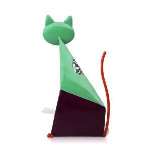 Fortune Cat Figurine Miniatura Metallo Figurine animali Decorazione per la casa Pastorale Art colorato Statuetta Artigianato Regalo per la casa