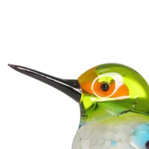 Figurine in miniatura di figurine di animali in vetro regalo Decorazioni per la casa soffiate a mano Decorazioni moderne per piccoli uccelli Accessori per la decorazione della casa