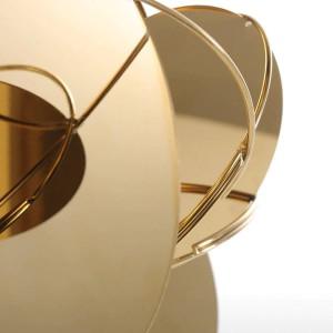 Specchio dorato Figurine moderne Decorazioni per la casa Artigianato astratto Ornamento Scultura in metallo Accessori interni per la decorazione domestica