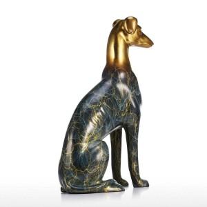 Labrador Dog Scultura in bronzo Decorazioni per la casa Scultura Figurine decorative da tavolo Statue e sculture di animali fatti a mano