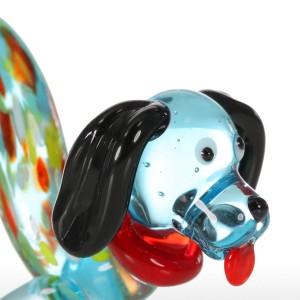 Figurine cane moderno regalo in vetro animale mini statuette decorazioni per la casa soffiato a mano multicolore accessori per la decorazione domestica