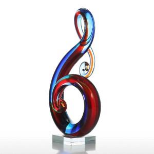 Nota musicale Statuetta in vetro Decorazioni per la casa Ornamento animale Bomboniera Regalo Statuetta in vetro Decorazione artigianale per il Ministero degli Interni