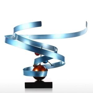 Nebulosa Scultura in ferro battuto astratta Decorazione per la casa Decorazione per desktop astratta Scultura per desktop contemporanea