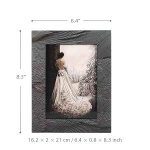 TOOARTS Cornice per foto con Plume Texture Piano in legno Verniciatura Tecnologia per ufficio Studand Camera da letto Ornamento per la casa Cornice