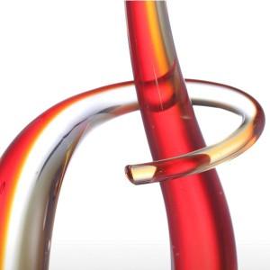 Ritmo in vetro figurina ornamento in vetro elegante forma figurina arte moderna favore mestiere decorazione regalo casa