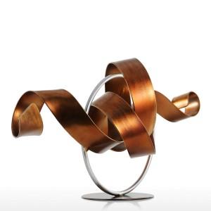 Statua Wriggle Scultura moderna Scultura astratta Metallo Scultura astratta Ferro Decorazione per la casa Camera Scrivania Ornamento