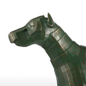 Materiale illustrativo originale del cane di progettazione della scultura della decorazione della vetroresina del cane dell'armatura per il Ministero degli Interni