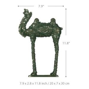 Figurine cammello modello nuvola Figurine in vetroresina Decorazioni per la casa Design originale Verde cammello Mestiere regalo per la casa