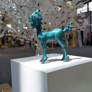 Scultura di cervi Decorazioni per la casa in stile moderno Decorazioni per animali in bronzo animale artificiale artificiale Accessori per la decorazione domestica