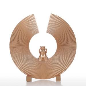 Ornamento della figurina della statua di Art Modern Home della scultura della resina del gatto di fortuna per il Ministero degli Interni
