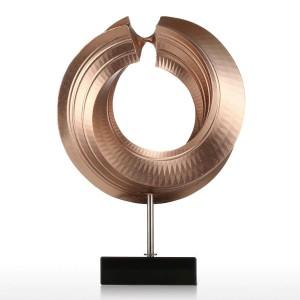 Twist Figurine Vetroresina Figurine Decorazioni per la casa Design originale Cerchio Elegante regalo artigianale per giardino domestico