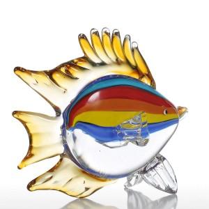 Figurine di pesci tropicali in vetrina Figurine di vetro Decorazioni per la casa Ornamento di animali Bomboniere Regalo Mestieri di vetro per l'home office