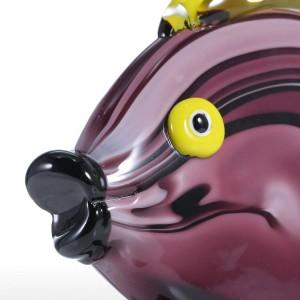 Mestiere di vetro del regalo del favore dell'ornamento della figurina dell'animale domestico della figurina di vetro tropicale gialla del pesce per il Ministero degli Interni