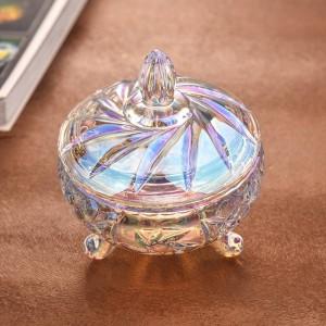 Utensili decorativi colorati trasparenti in vetro per barattoli per caramelle per matrimoni, barattoli per caramelle per matrimonio, contenitori per frutta secca