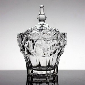 Contenitore per gioielli in vetro trasparente zuccheriera Vasetto per caramelle di alta qualità Serbatoio di stoccaggio Contenitore per ciotole di cristallo