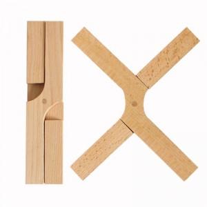 Sottopentola per pad da cucina pieghevole in legno resistente al calore e resistente al calore