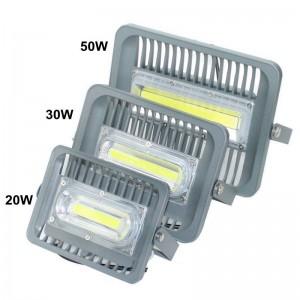Luce di inondazione ultrasottile del LED 50W alluminio ad alta luminosità AC110V 220V ingresso impermeabile COB esterno riflettore principale riflettore per DIY