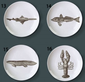 Piatti di pesce a tema mondo subacqueo Retrò creativo Snack Dish Bar Piatti decorativi per la casa dell'hotel Motivi dipinti a mano Piatti fai da te