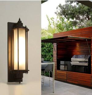 Villa street Applique da parete per esterni Illuminazione da giardino balcone illuminazione per esterni in vetro vintage E27 Lampada da parete impermeabile Lampada da cortile