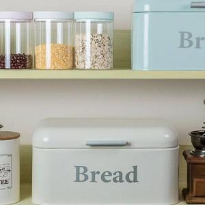 Contenitore per pane vintage Armadietto per snack in ferro Scatola per desktop Finitura a prova di polvere Scatola di immagazzinaggio Contenitore per alimenti Custode Cucina Scaffale Decorazioni