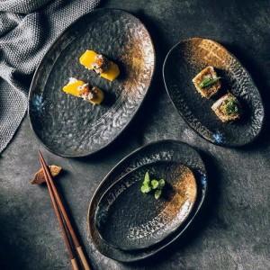 Set di posate decorative in ceramica vintage piatto da 7/8/9/10 pollici piatto ovale piatto da dessert piatto da dessert