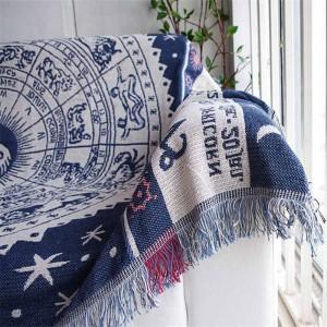 Coperta da tiro in stile esotico vintage Regalo decorativo Cobertor Manta Para Divano / letti Plaid da viaggio Coperte da cucire antiscivolo Nappa