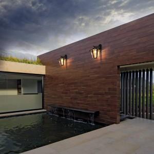 Lampada da soppalco per esterni in metallo nero industriale leggero vintage Lampada da esterno per esterno a parete impermeabile E27 con balcone