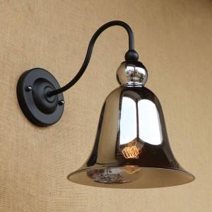 Lampade da parete vintage in vetro colorato illuminazione paralume in vetro a forma di corno applique da parete retrò per comodino camera da letto soppalco bar scala corridoio