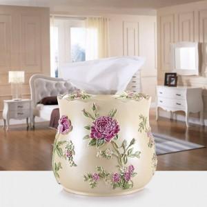 Vassoio per scatola di fazzoletti in resina di volume pompaggio creativo di carta cassetto pastorale soggiorno moderno e minimalista bobina bobina di tovaglioli