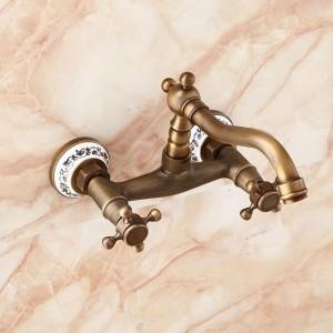 Rubinetti a parete Rubinetto da cucina Rubinetto per bagno Lavabo in ottone Gru miscelatore Rubinetto porcellana 9057AP