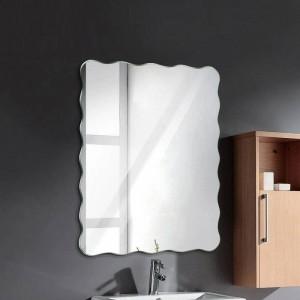 Specchio bagno frameless ondulato appeso a parete bagno specchio impermeabile camera da letto soggiorno portico specchio per il trucco wx8231141