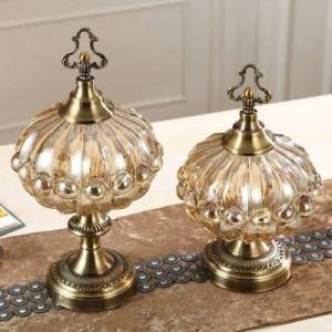 decorazione di cerimonia nuziale Di lusso ornamenti morbidi serbatoio cucina cucina stile europeo tavolo da tè con coperchio barattolo di caramelle