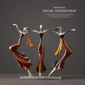 Regali di nozze Oggettistica per la casa Coppia danzante Scultura Statua Amore Decorazione Desktop Artigianato Resina Astratto Amanti Figurine Ornamento