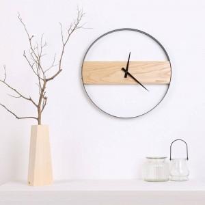 Orologio da parete in legno Soggiorno in legno minimalista Orologio moda creativa Orologio moderno da tavolo minimalista Orologi da parete